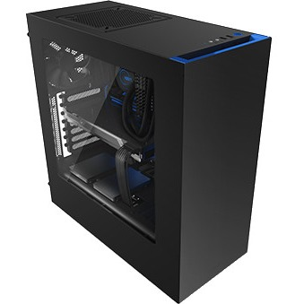 Nzxt 176145 Case S340 Atx Mid Tower No Power Supply 0/0/[3] Bay Usb Black Blue No Led Black Interior Window