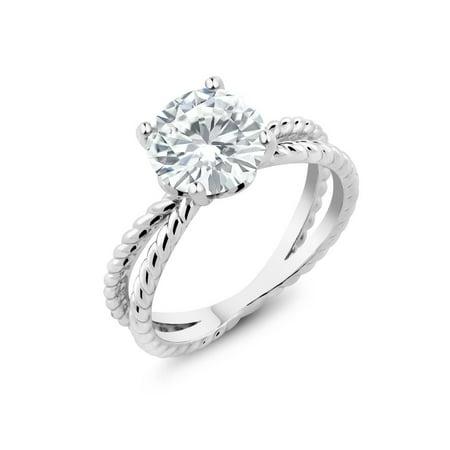2.50 Ct Bridal Vintage Round White Zirconia Engagement (Best Round Engagement Rings)