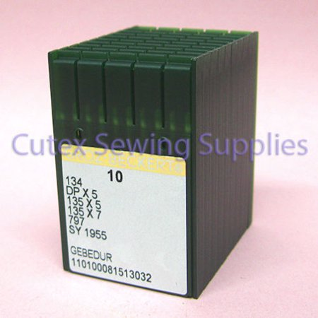 Titanium Sewing Machine Needles - 100 Groz-Beckert 134 135X5 DPX5 SY1955 Gebedur Titanium Sewing Machine Needles -21/130