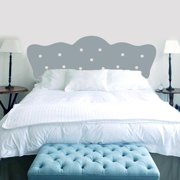 Sweetums Button Headboard Wall Decal Twin Size