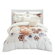 Chic Home Catskill Park 5 Piece Floral Pattern Comforter Set - Pillows Shams Included, Queen