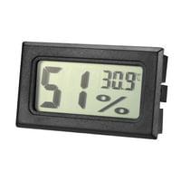 Black Digital Temperature Humidity Meters Gauge Indoor Thermometer Hygrometer LCD Display Celsius(°C)
