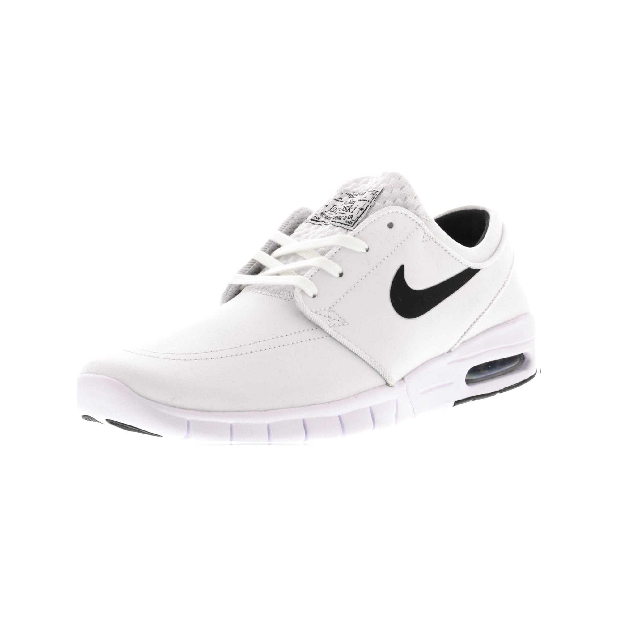 709f0ad7ff8 Nike Men s Stefan Janoski Max L Black   Green Glow White Ankle-High Fashion  Sneaker - 9M