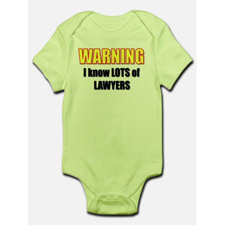 CafePress - I Know Lawyers Infant Creeper - Baby Light Bodysuit
