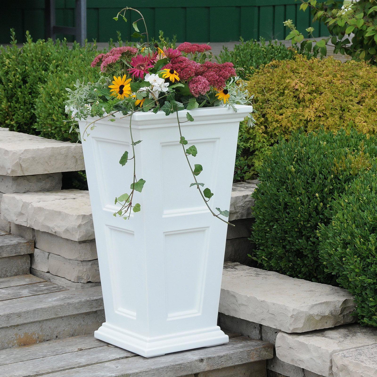 Fairfield Tall Planter White by Mayne Inc.