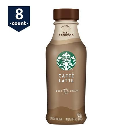 Starbucks Iced Espresso Caffe Latte, 14 oz Bottles, 8 Count (Starbucks Halloween Frappuccino)