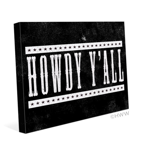 Click Wall Art Howdy Y'all Textual Art on Canvas
