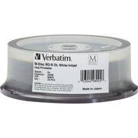 Verbatim M-Disc BD-R DL 50GB 6X White Inkjet/Hub Printable  25pk Spindle
