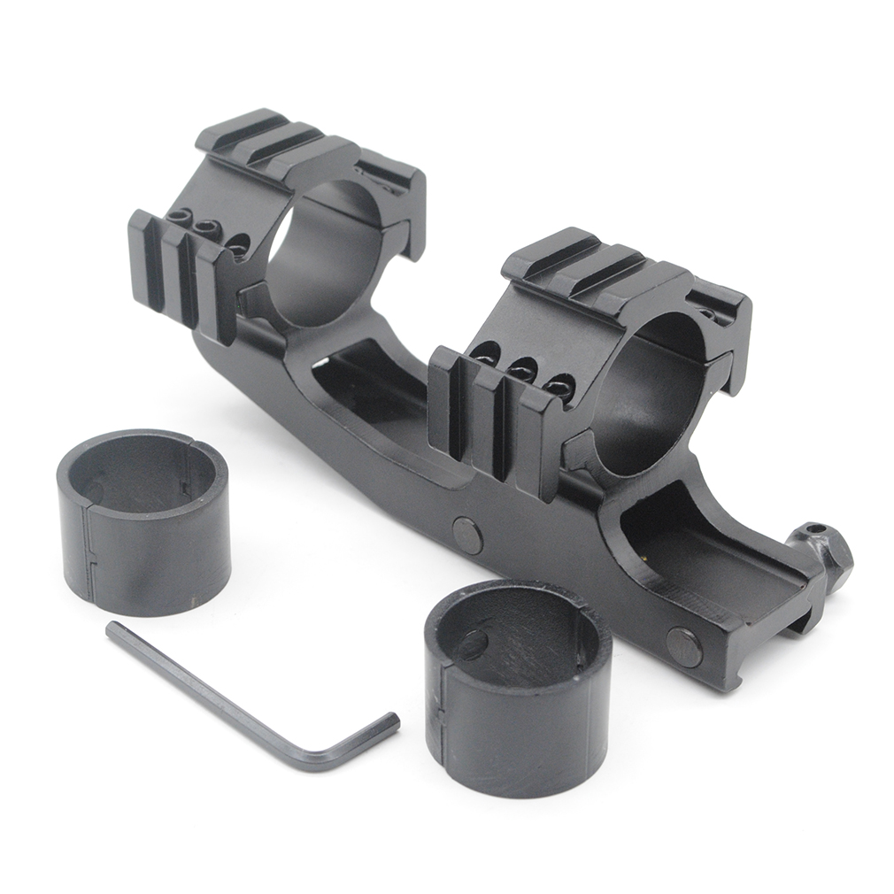 Lowest price ever!Universal 30mm Cantilever Scope Mount Base Reducer Inserts Tri-rail Rings Circular Tube Hunting Shooting Accessory