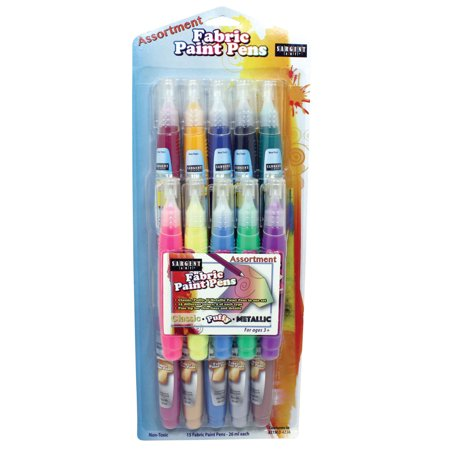 Sargent Art - Fabric Paint Pens (Metallic Fabric Paint)