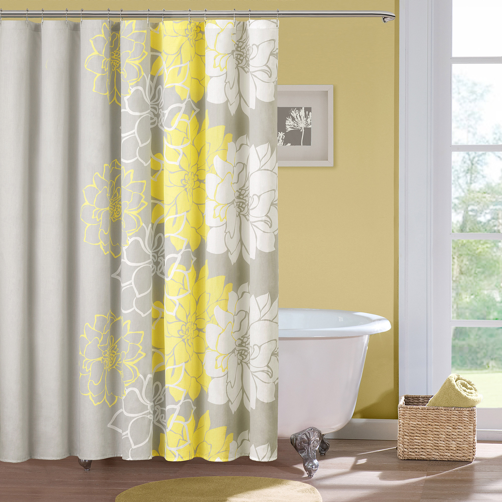 Mainstays PEVA Shower Curtain 13-Piece Bathroom Set - Walmart.com