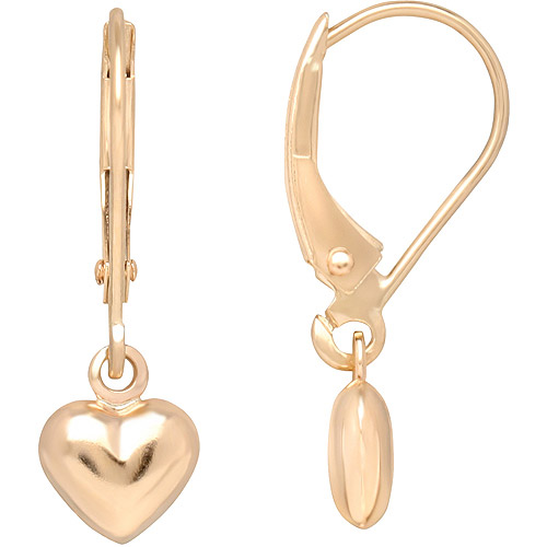 Simply Gold 10kt Yellow Gold Heart Earrings