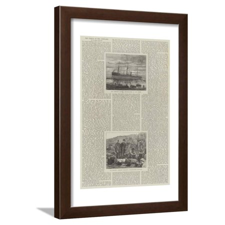 The Wreck of the Copeland Framed Print Wall Art ()