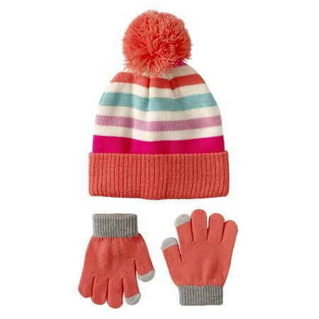 Pink Platinum Stripe Sequins Hat & Glove - Detective Hats For Kids