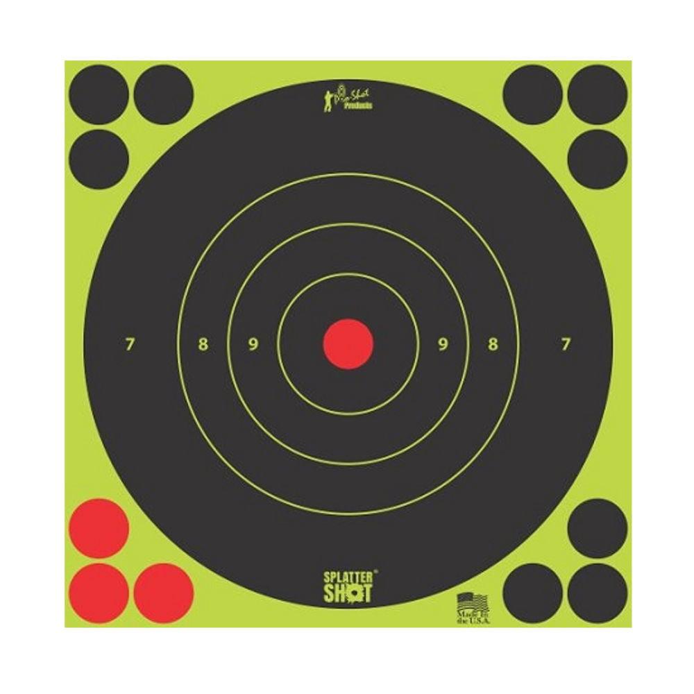 """Pro-Shot Splatter Shot 8"""" Green Bull's-Eye Target - Peel and Stick - 6 Pack - 8B-GREEN-6PK"""