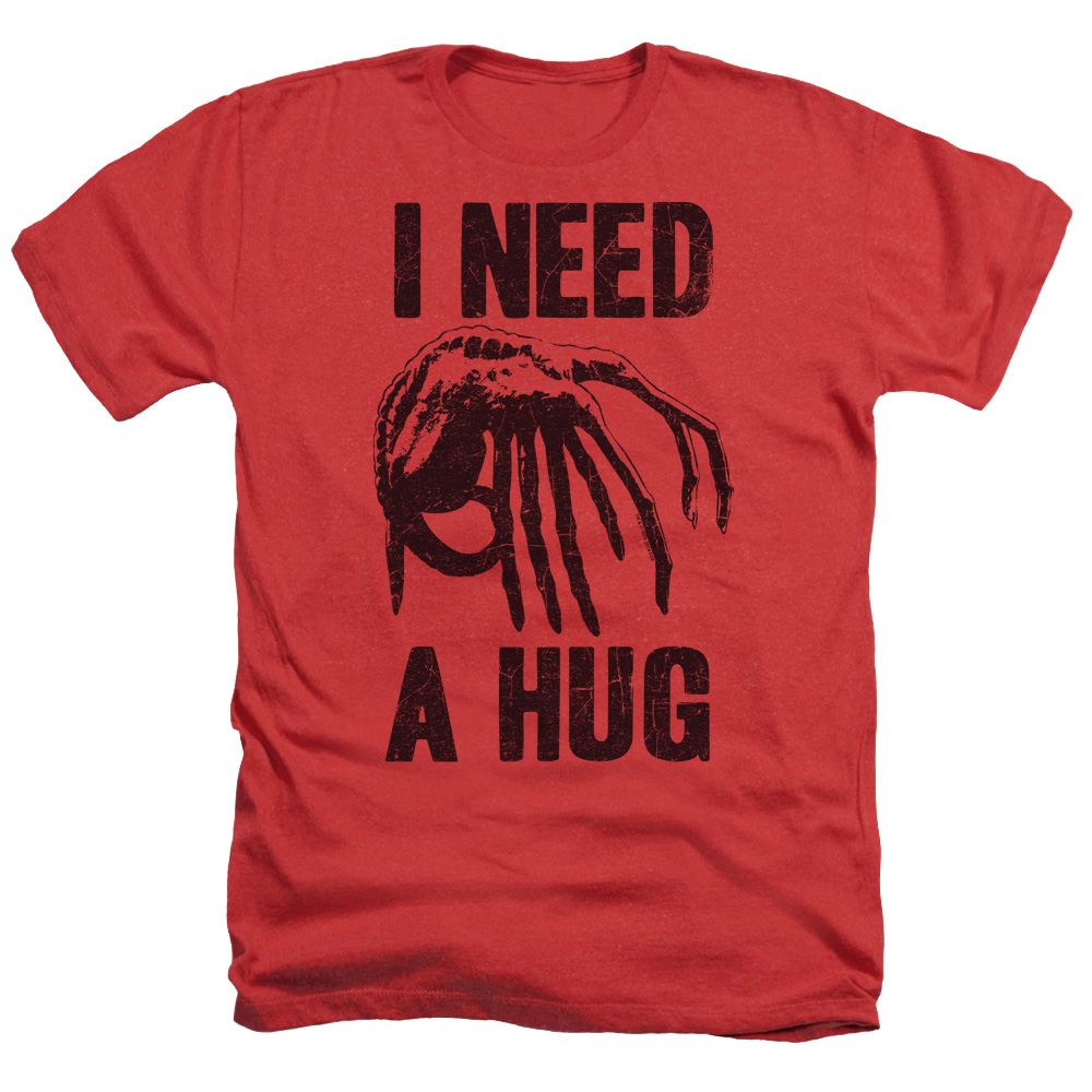 Alien Need A Hug Adult Heather Red Md