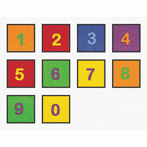 Learning Carpets Number Squares, Set of 10
