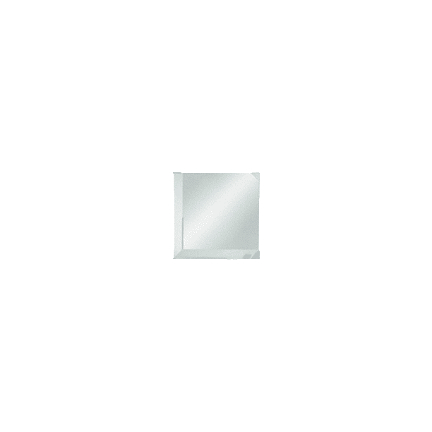 CRL BM2C4 Clear Mirror Glass 4 Square Beveled on 2 Sides
