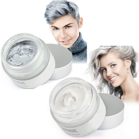 Mofajang Hair Wax 2 Colors Kit Temporary Hair Coloring Styling Cream Mud Dye -