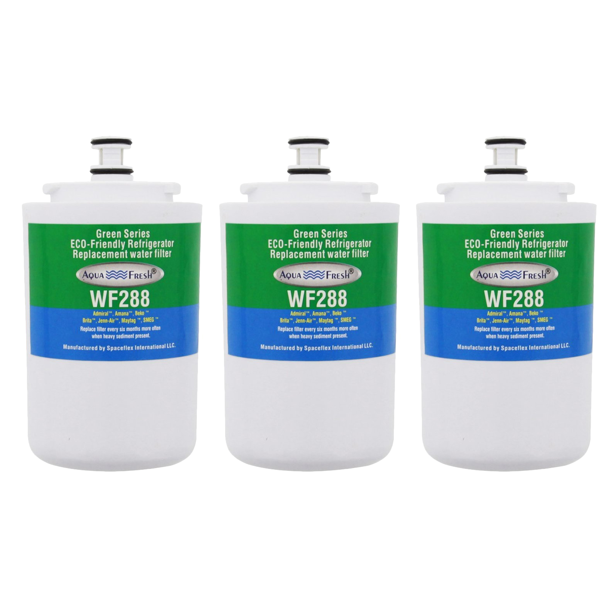 Replacement Aqua Fresh WF288 Refrigerator Water Filter For Maytag UKF7003 (3 Pack)