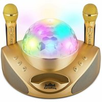 Wireless Karaoke Machine Microphone for Adults and Kids New 2020 Pro System - Gold