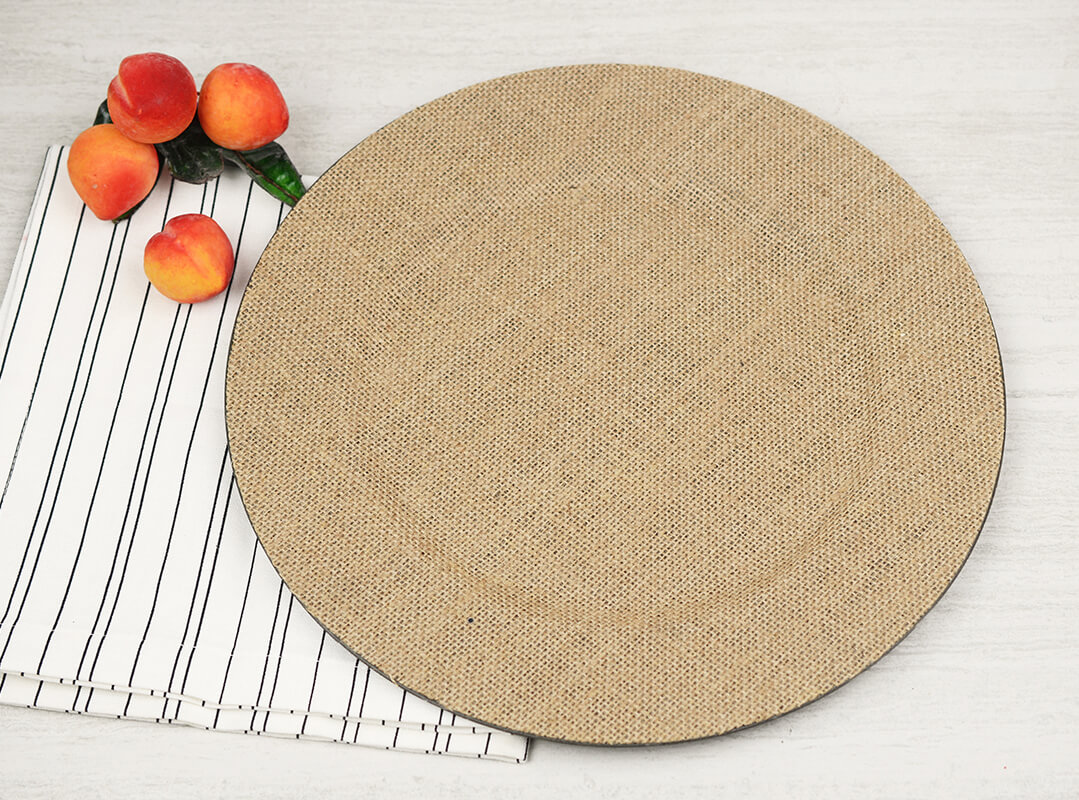 Burlap Charger Plates 13in. Wide Burlap Dinner Plate Chargers ...