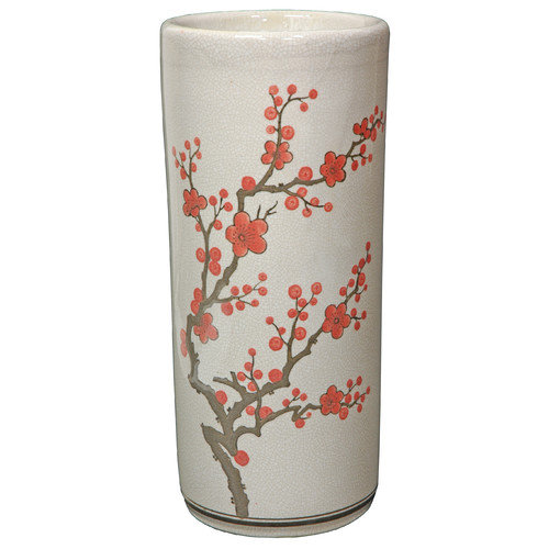 Oriental Furniture Cherry Blossom Umbrella Stand
