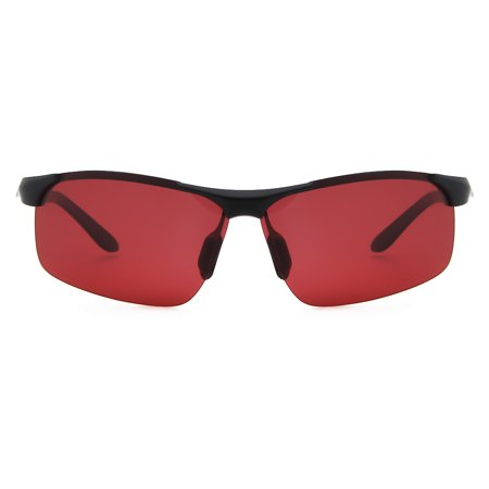 Cyxus Red Lens Fashion Gaming Glasses with Spring Hinges, Anti Blue Light UV 8011 ()