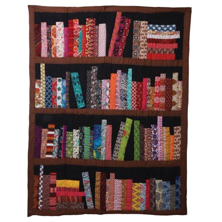 Library Books Quilted Throw Blanket - 100% Cotton 50