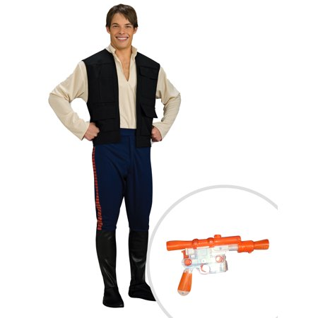 Han Solo Blaster (Men's Deluxe Han Solo Star Wars Costume and Star Wars Han Solo)