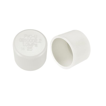 External Pipe (25mm PVC Pipe Cap Fitting Slip Socket External End Caps 2)