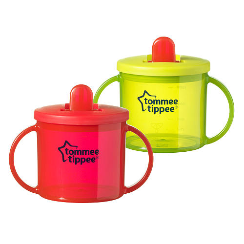 Tommee Tippee Free Flow Hard Spout Trainer Sippy Cup - 2 pack
