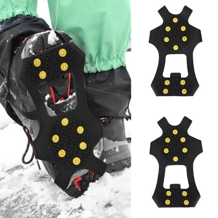 WALFRONT Snow Spikes,Snow Grips,Outdoor Snow Antiskid Spikes Grips Mountain Climbing Footwear Ice Traction Cleats