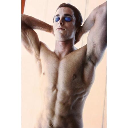Christian Bale American Psycho 24X36 Poster beefcake pose as Bateman (Christian Halloween Posters)