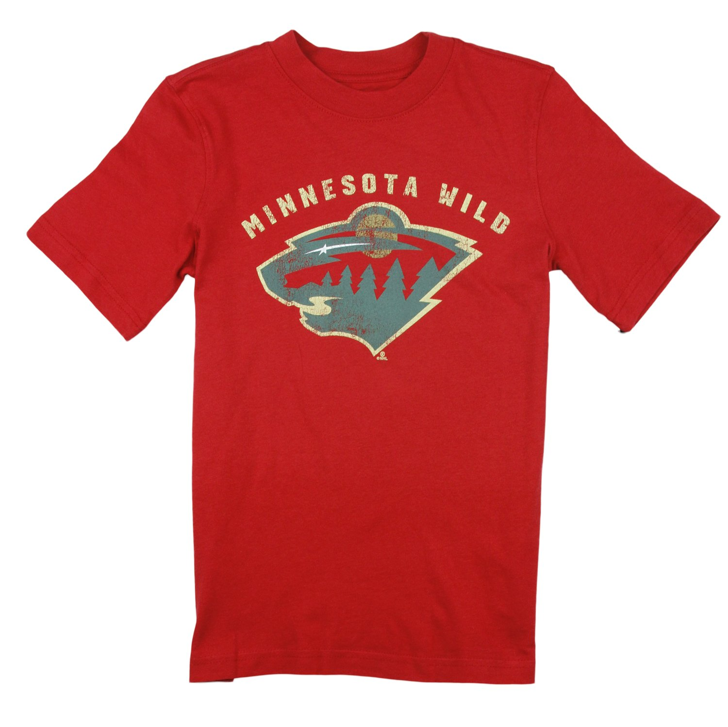 NHL Hockey Youth Boys Minnesota Wild Vintage Tee Red by