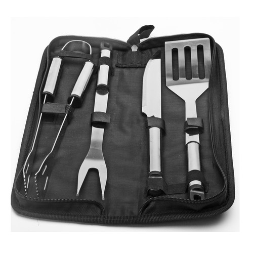 Natico 5 Piece Stainless Steel BBQ Grilling Tool Set