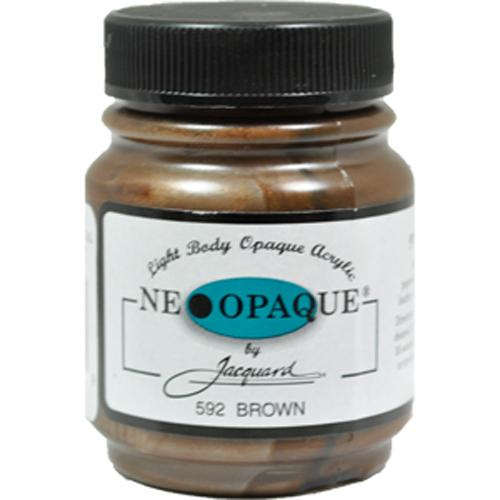 Jacquard Neopaque Color #592 BROWN Screen Stenciling Stamping Ink Paint 2.25oz