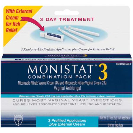 MONISTAT 3-Day Combination Pack with Pre-Filled Applicators