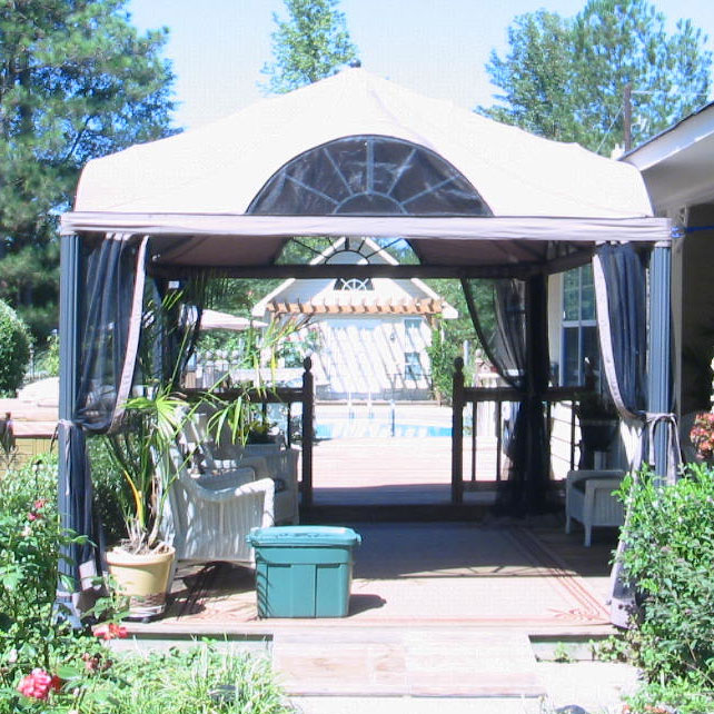 Garden Winds Replacement Canopy Top and Side Mosquito Netting Set for Arch