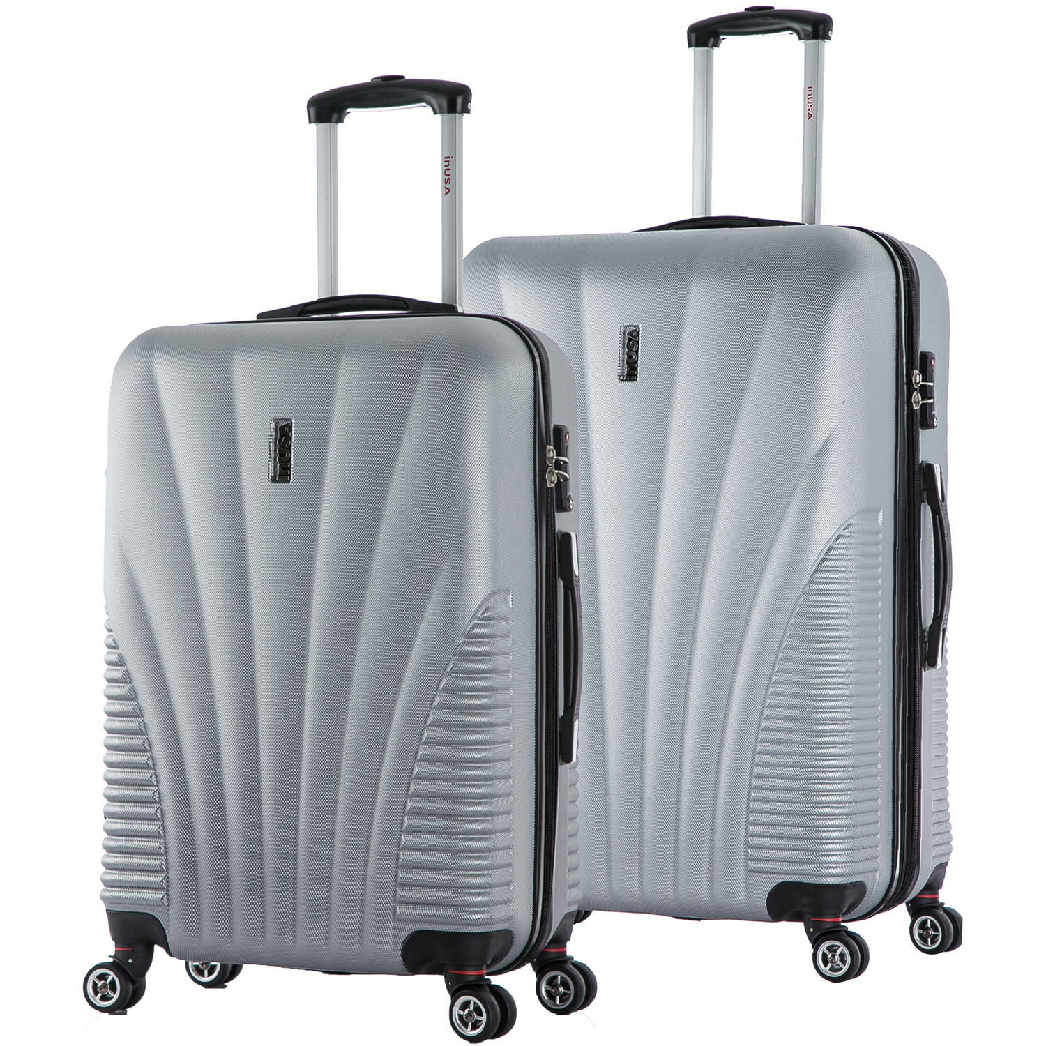 "InUSA Chicago Collection Lightweight Hardside Spinner 2-Piece Set, 25"",29"""