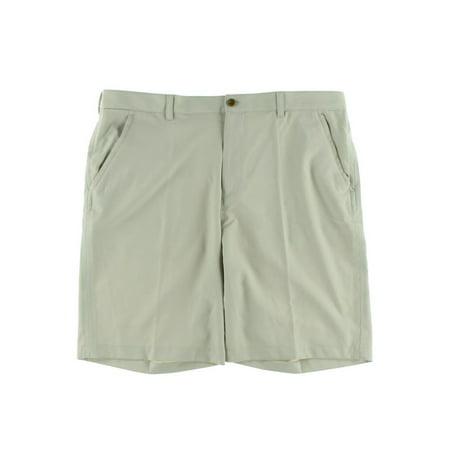 Izod Mens Moisture Wicking Classic Fit Khaki Shorts
