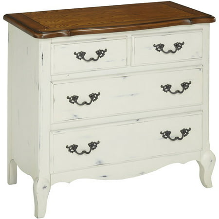 Home Styles French Countryside Oak and Rubbed White Drawer Chest ()