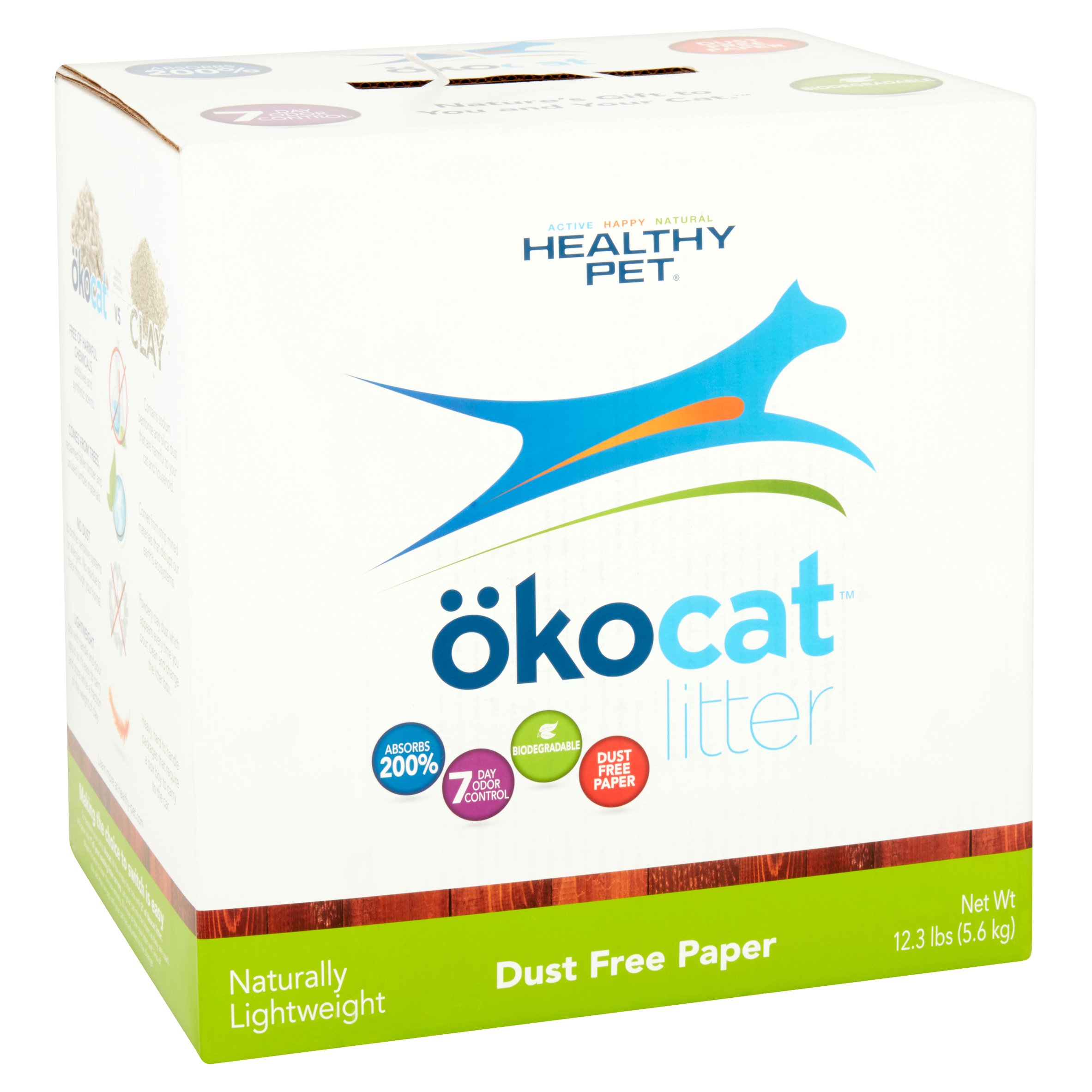 Okocat Dust Free Paper Cat Litter, 12.3-lb