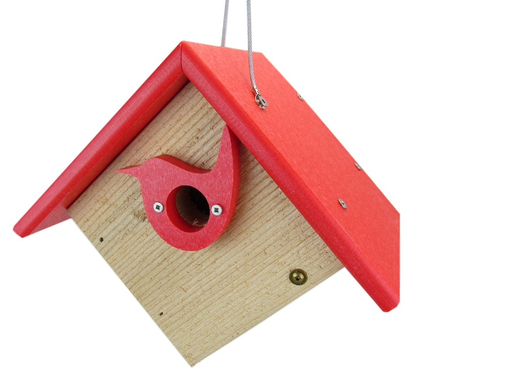 Nature Products USA Classic Red Cedar & Recycled Poly Lumber Wren Birdhouse by JCs Wildlife