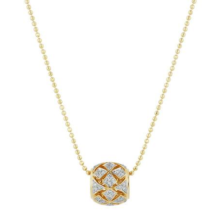 94072e5a3e7 . - 14k Yellow Gold 1/5 Carat Diamond Pendant Necklace (H-I, SI2-I1) on 18