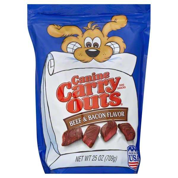 Canine Carry Outs Beef & Bacon Flavor Dog Snacks, 25-Ounce