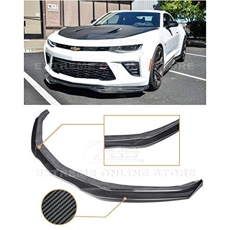 Extreme Online Store for 2016-2018 Chevrolet Camaro SS | EOS T6 Style Carbon Fiber Add On Front Bumper Lower Lip Splitter (Adult Online Stores)