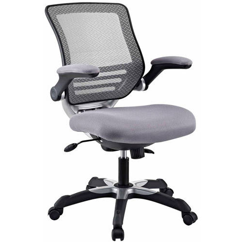 Upholstered Office Chair with Flip-up Arms