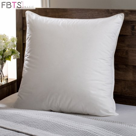 Down Square Pillow (95% Feather 5% Down Pillow Insert 18 x 18 Inches Square Sham Stuffer Premium Hypoallergenic Decorative Cushion Cotton Sofa and Bed Pillows by FBTS)