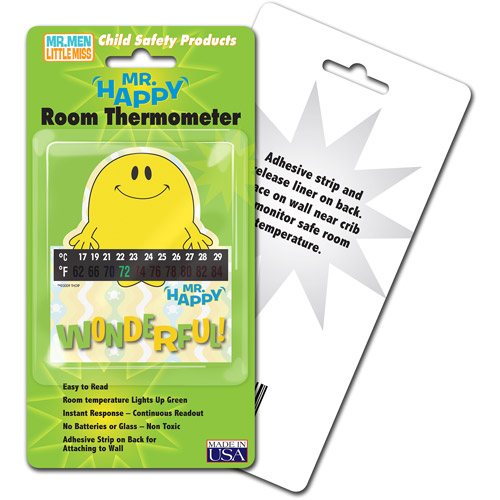 Mr Happy Room Thermometer 4pk